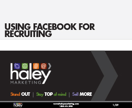 Using Facebook for Recruiting