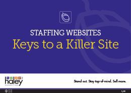 Staffing Websites - Keys to a Killer Site