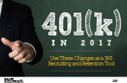 401(k) in 2017: Use These Changes as a 365 Recruiting and Retention Tool!