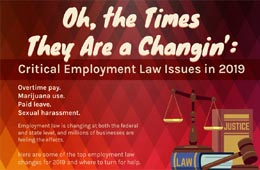 Oh, the Times They Are a Changin': Critical Employment Law Issues in 2019