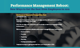 Performance Management Reboot: New Ways to Get the Best from Employees in 2021